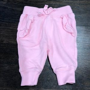 Hanna Anderson pink pants 3-6 months